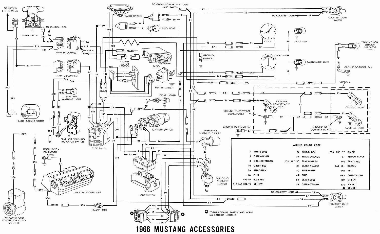 66 mustang wiring diagram new