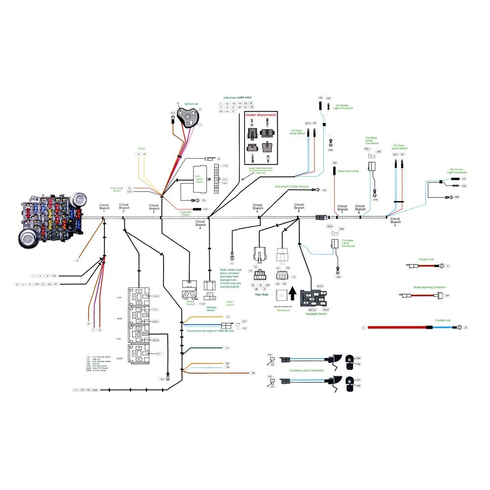 66 mustang wiring diagram new