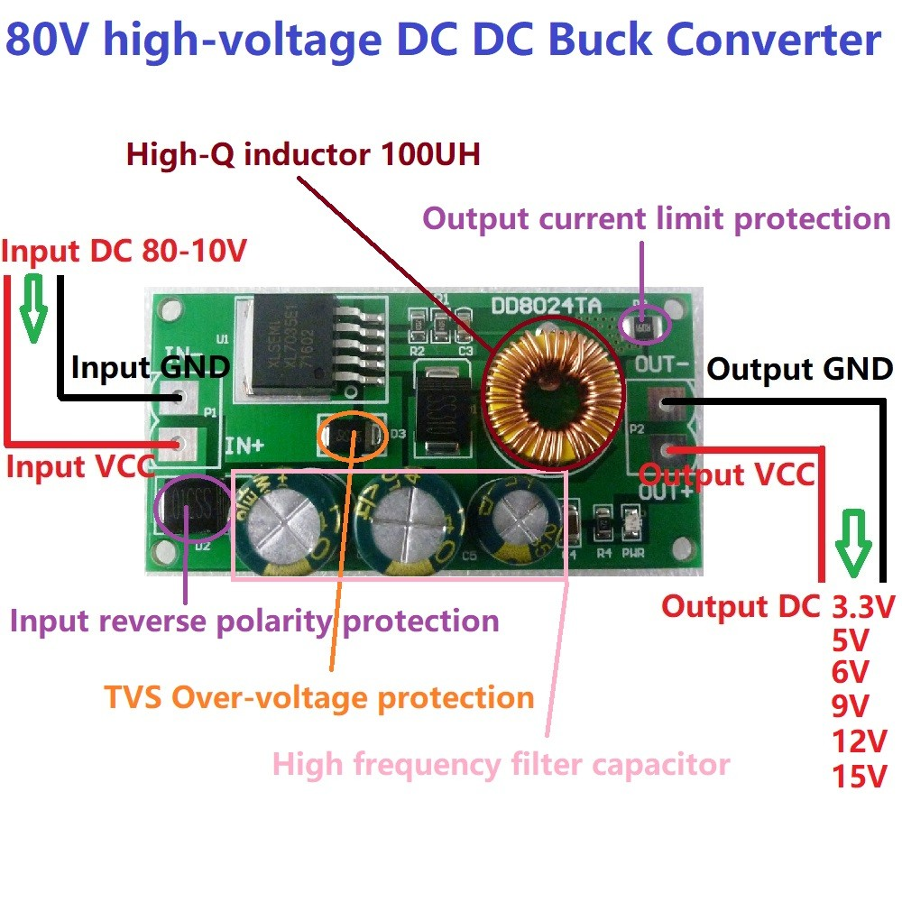 48v To 12v Converter Wiring Diagram: Wiring Diagram Image