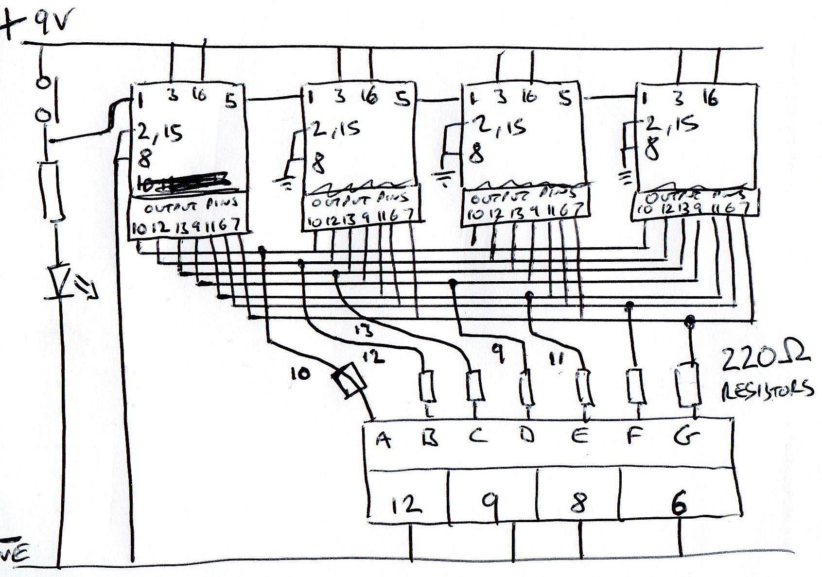 7 Segment Display Clock Circuit Diagram Wiring Image Driver Multiplexer 4 Digit Cc All Digits Count The Same Rh Electronics Stackexchange 4026 Counter Circuits