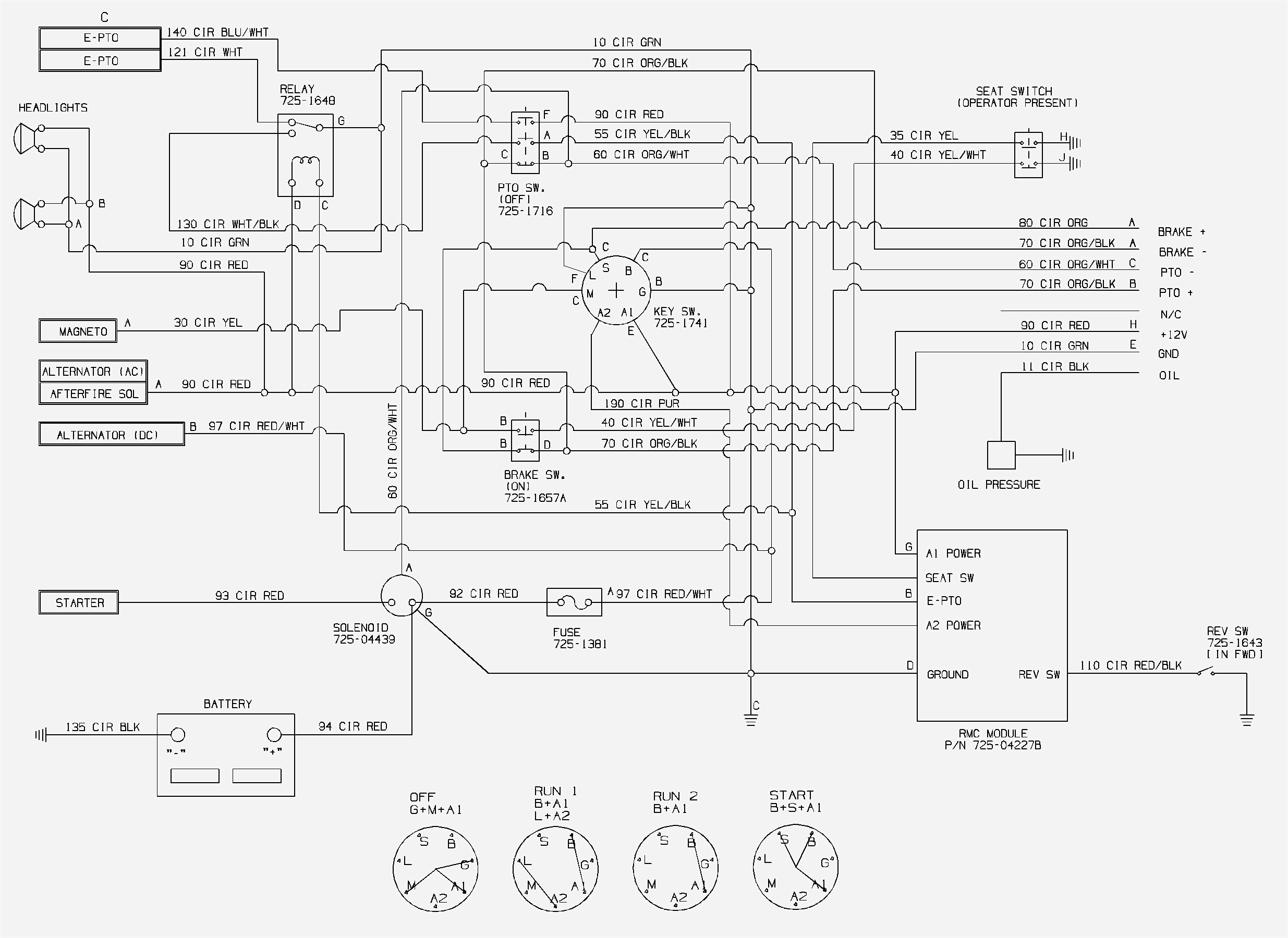 Cub Cadet 1045 Wiring Diagram Model