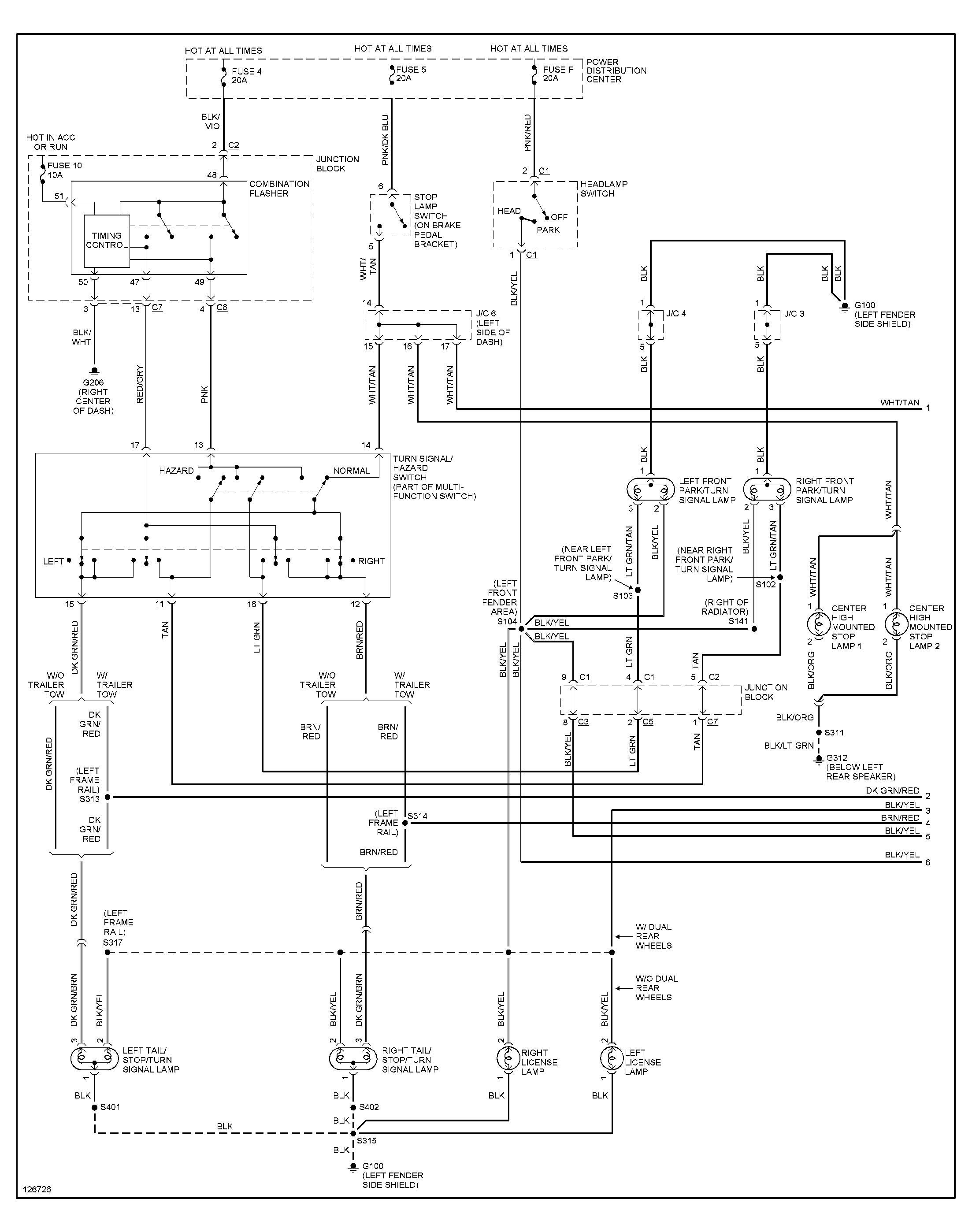 2001 Dodge Ram 1500 Tail Light Wiring Diagram from mainetreasurechest.com