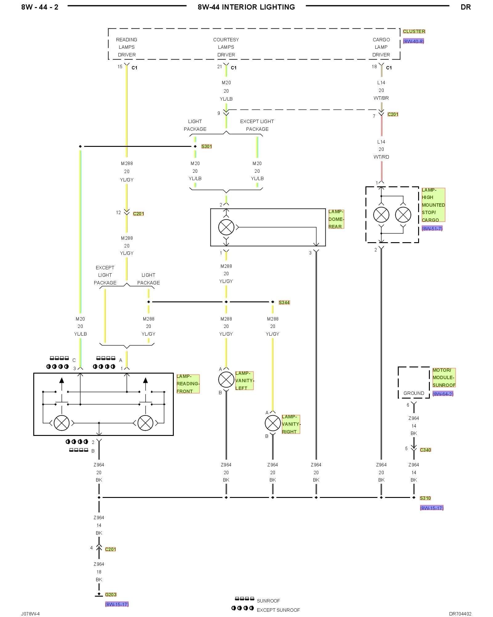 Dodge Caravan Tail Light Wiring Diagram | Wiring Diagram Image