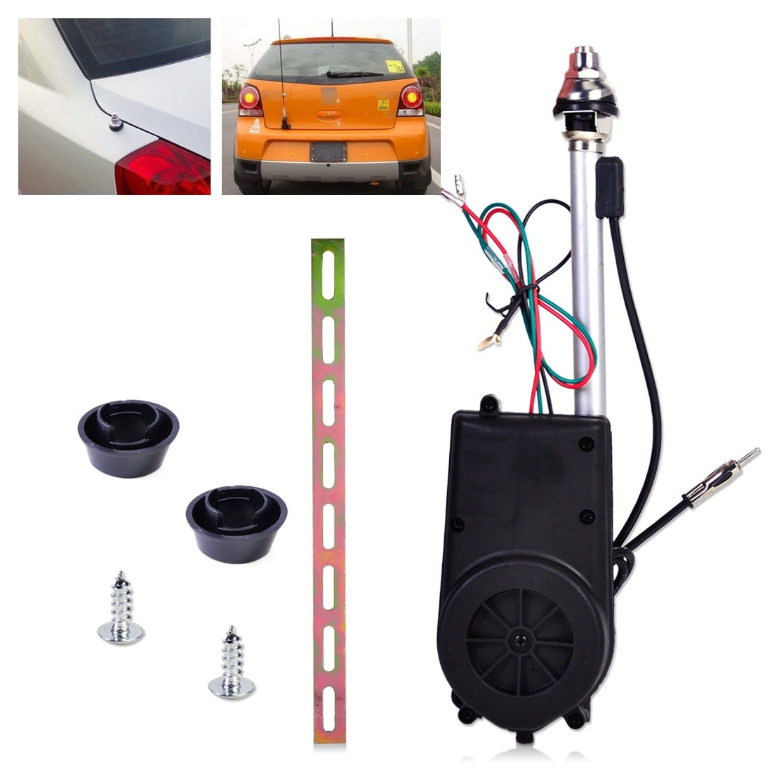 Universal 12V Car Aerial Automatic Power Antenna Replacement Kit FM Radio Mast Signal Booster for Volkswagen