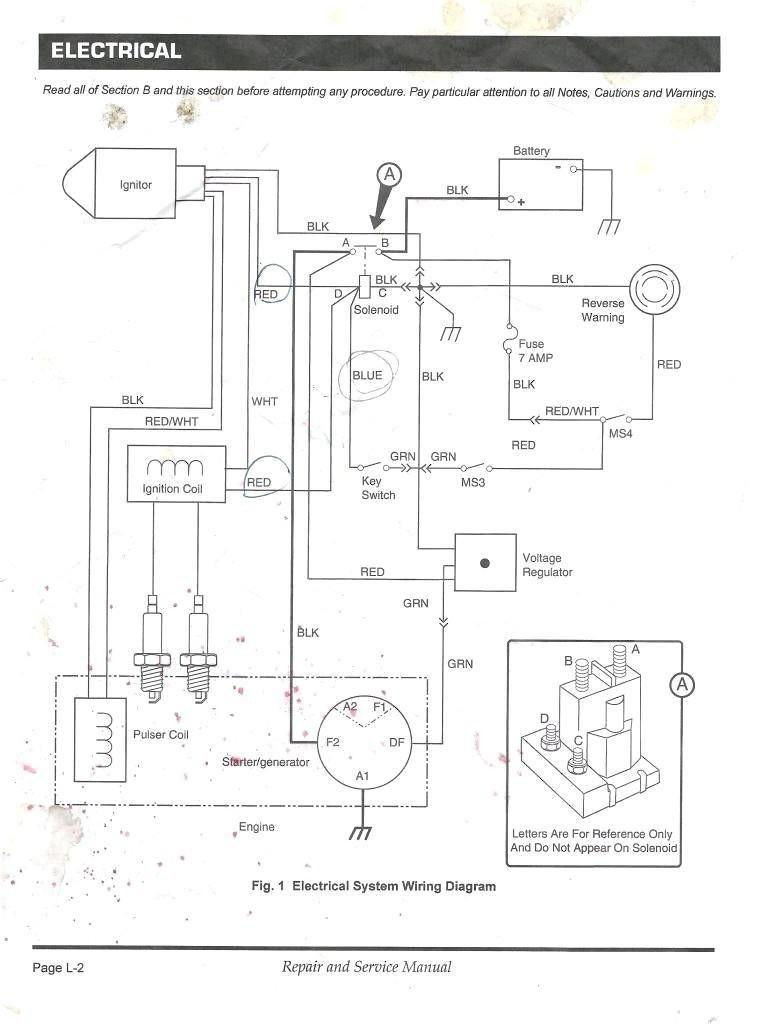1984 Ezgo Electric Golf Cart Wiring Diagram