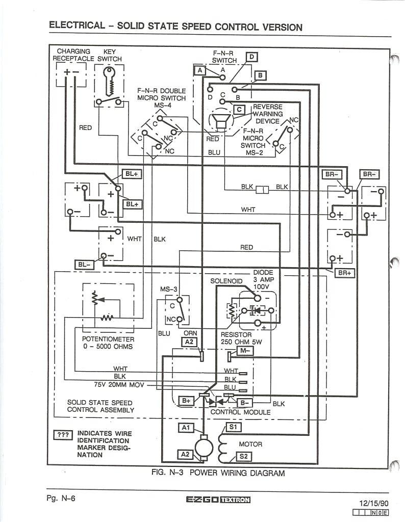 98 ez go wiring diagram pdf enthusiast wiring diagrams u2022 rh rasalibre co EZ Go Golf Cart Wiring Diagram 48 Volt Solenoid Wiring Diagram
