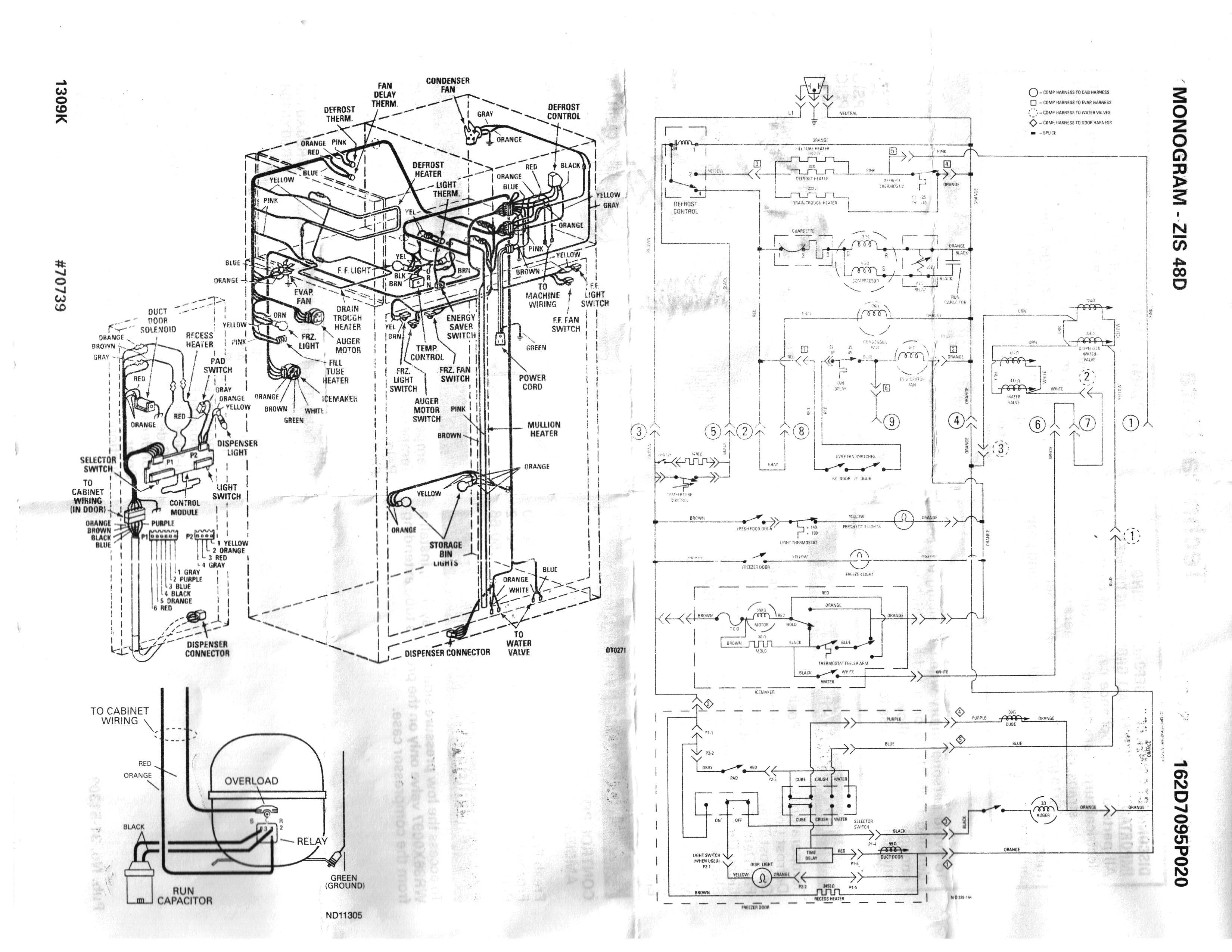 Ge Side by Side Refrigerator Wiring Diagram Ge Freezer Schematic Wiring  Diagram within Refrigerator Chunyan