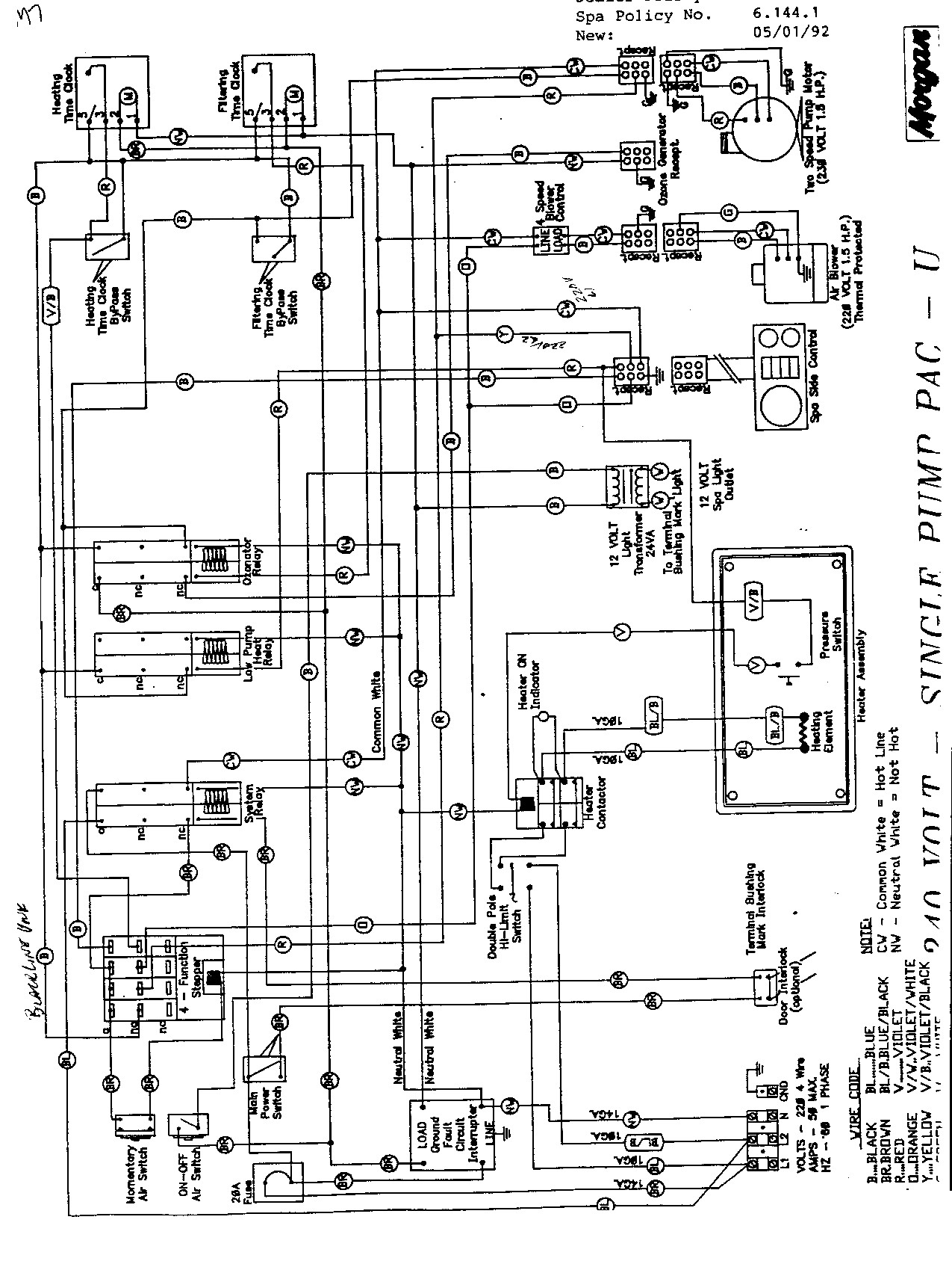 Hot Spring Spa Wiring Diagram Hot Tub Wiring Diagram New Morgan Wiring Diagram With Simple