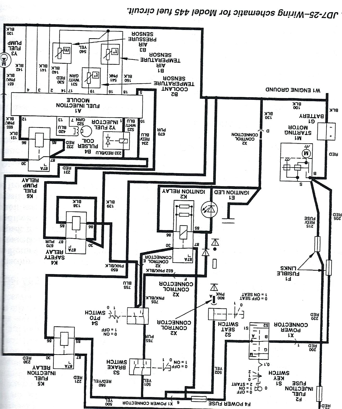 John Deere 133 Wiring Diagram Electrical 850 Lt Image