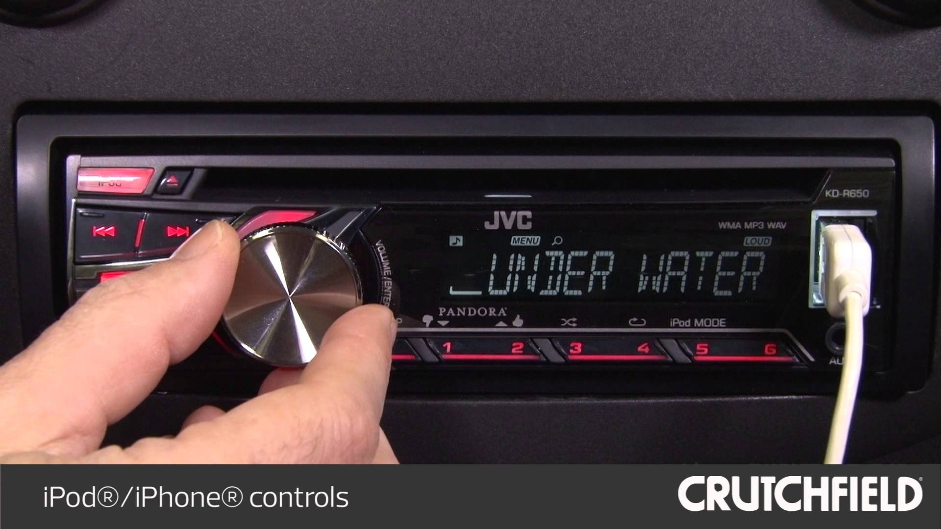 JVC KD R650 Display and Controls Demo