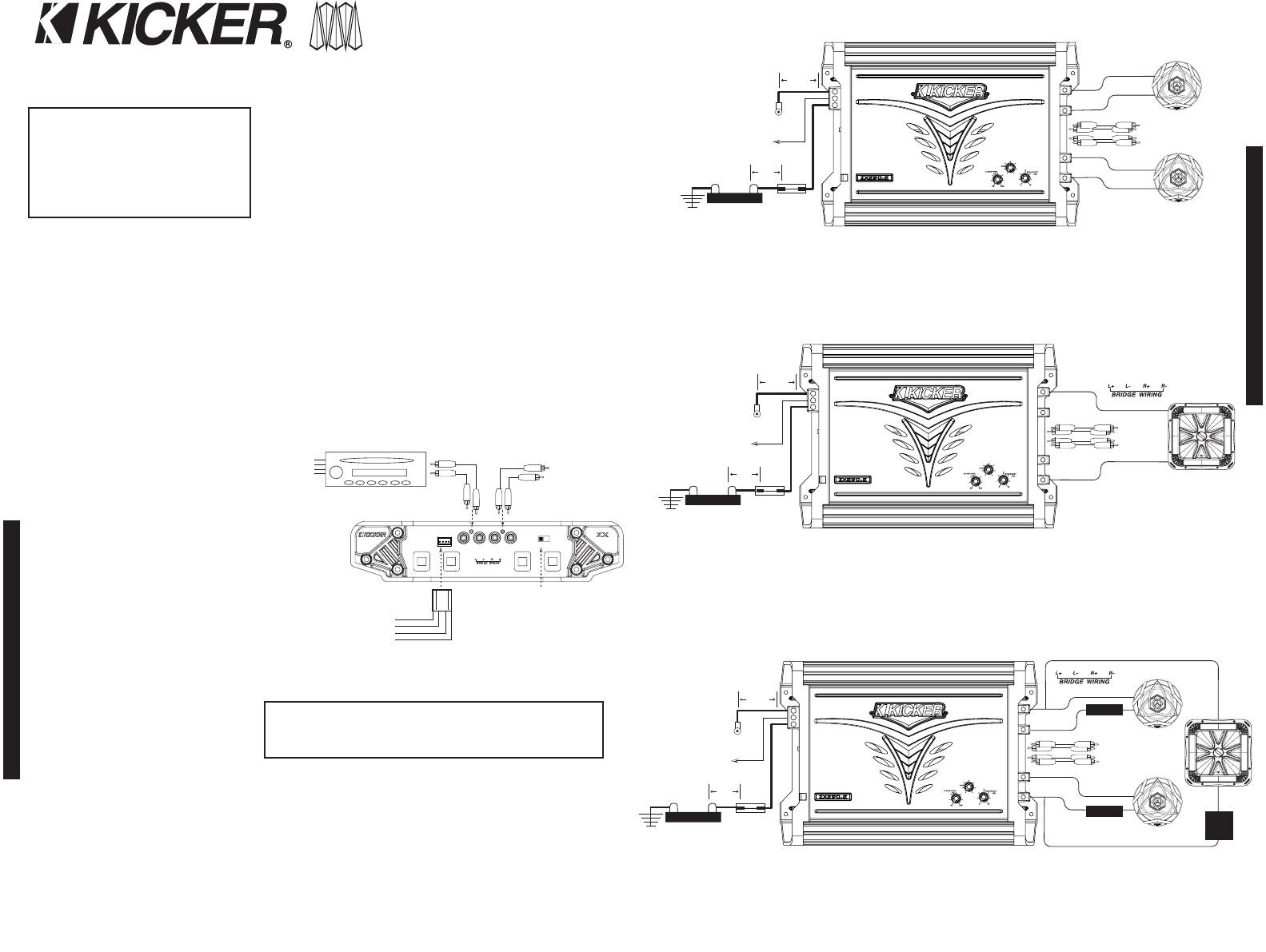 Kicker Bridge Wiring Example Electrical Wiring Diagram • Kicker Subwoofer Wiring Diagram Samples