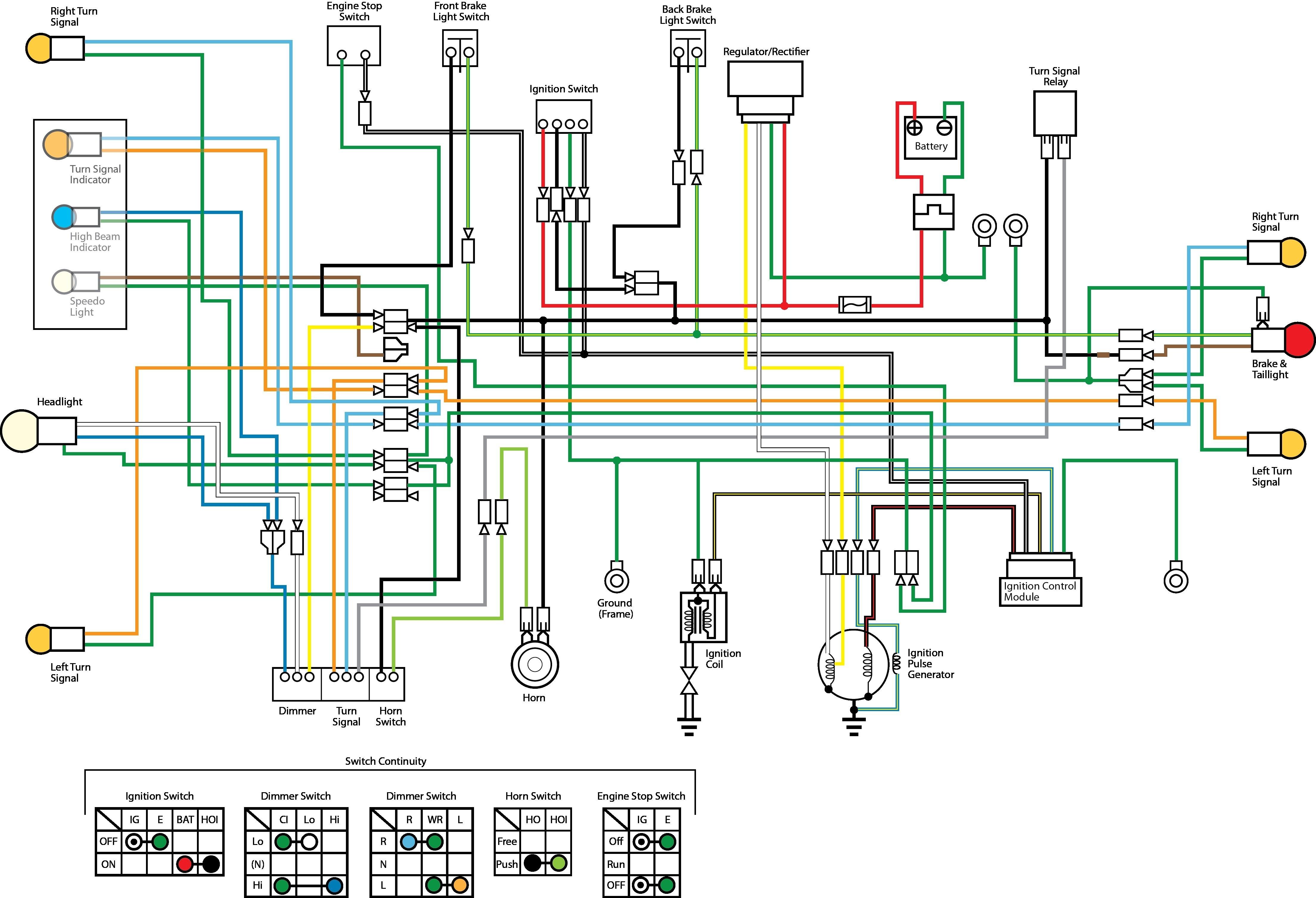 Motorcycle Wiring Diagram Wiring Diagram for Motorcycle Fresh Simple Motorcycle Wiring Diagram Picture