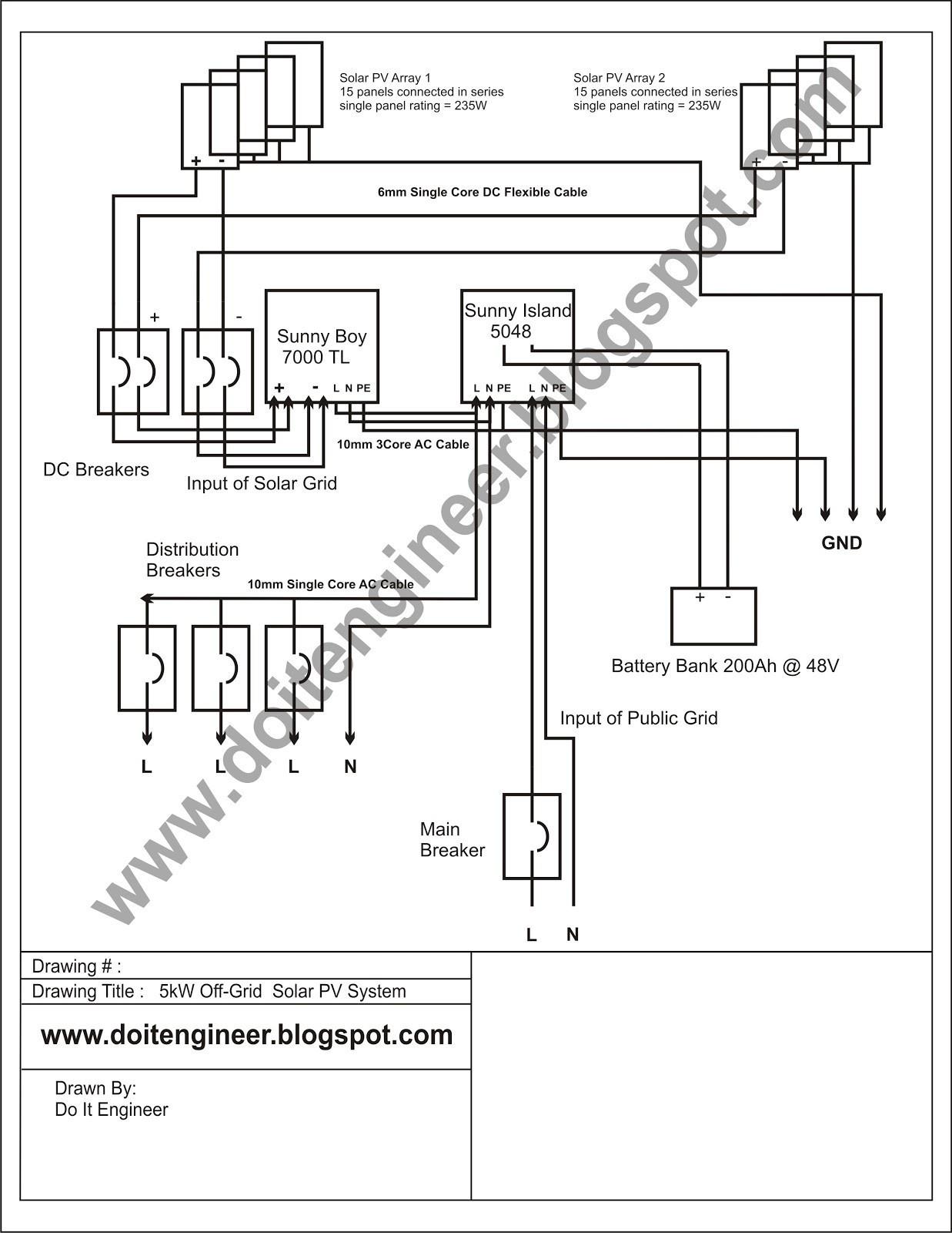 Micro Inverter Wiring Diagram Refrence Solar System Wiring Diagram New 5kw F Grid Solar Pv System Design