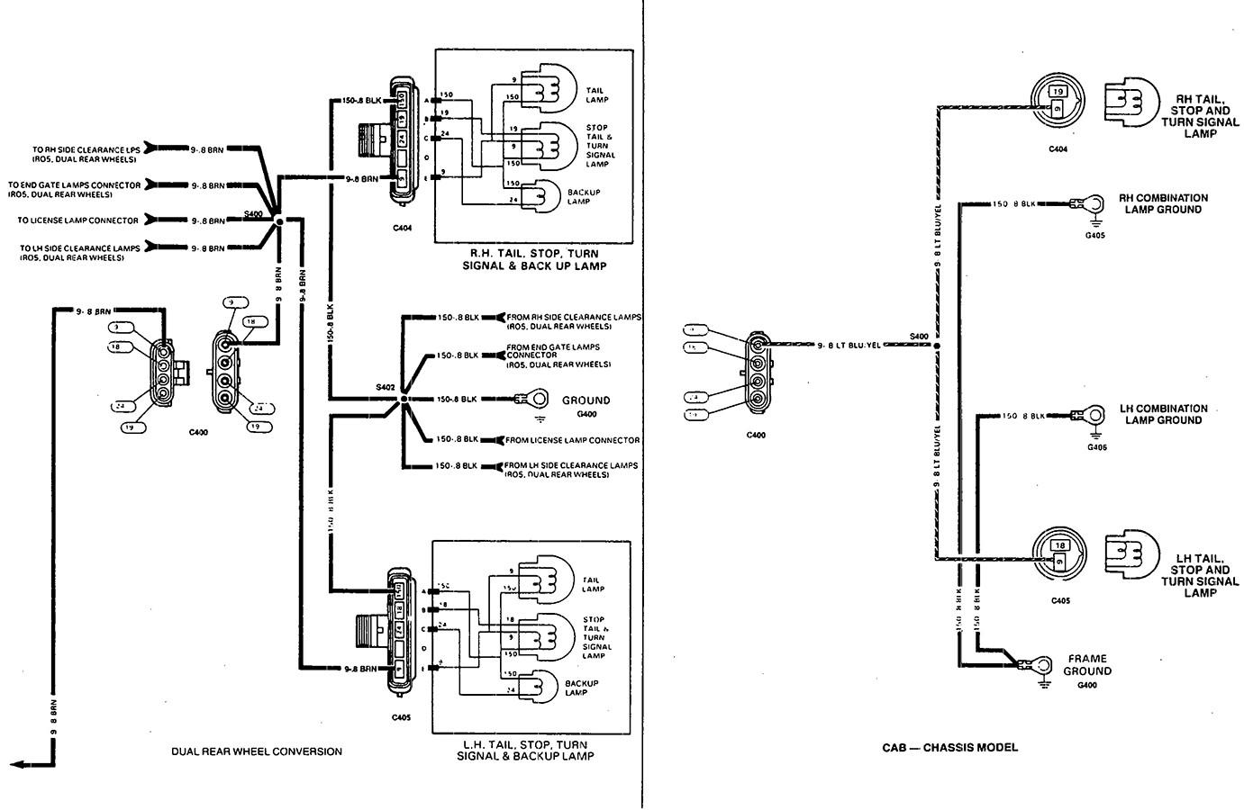 Trailblazer Tail Light Wiring Diagram