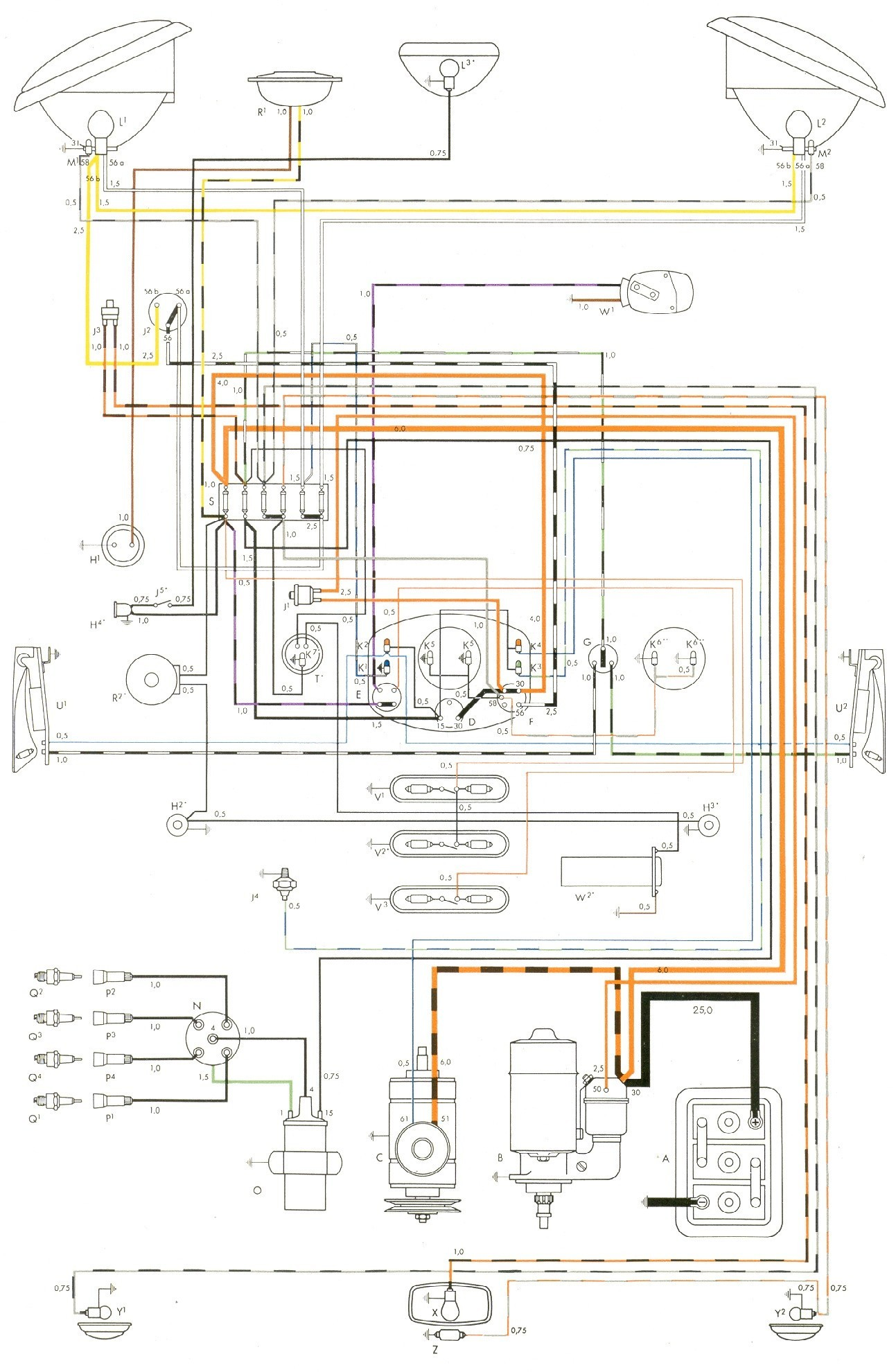 Vw Voltage Regulator Wiring Diagram 1973 Free For You Delco Simple Diagrams Rh 22 Studio011 De 1974 Alternator Snowmobile