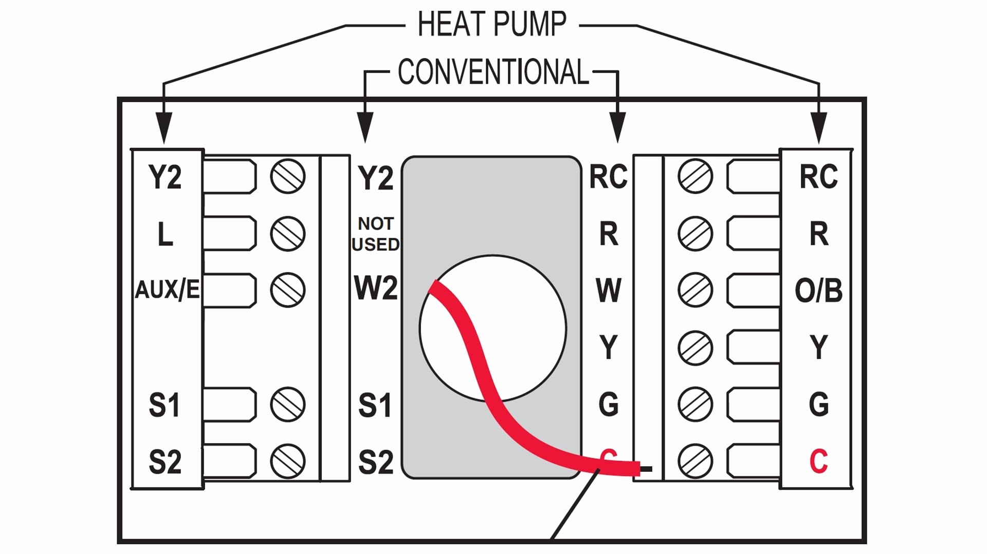 WRG-6251] White Rodgers Heat Pump Thermostat Wiring Diagram