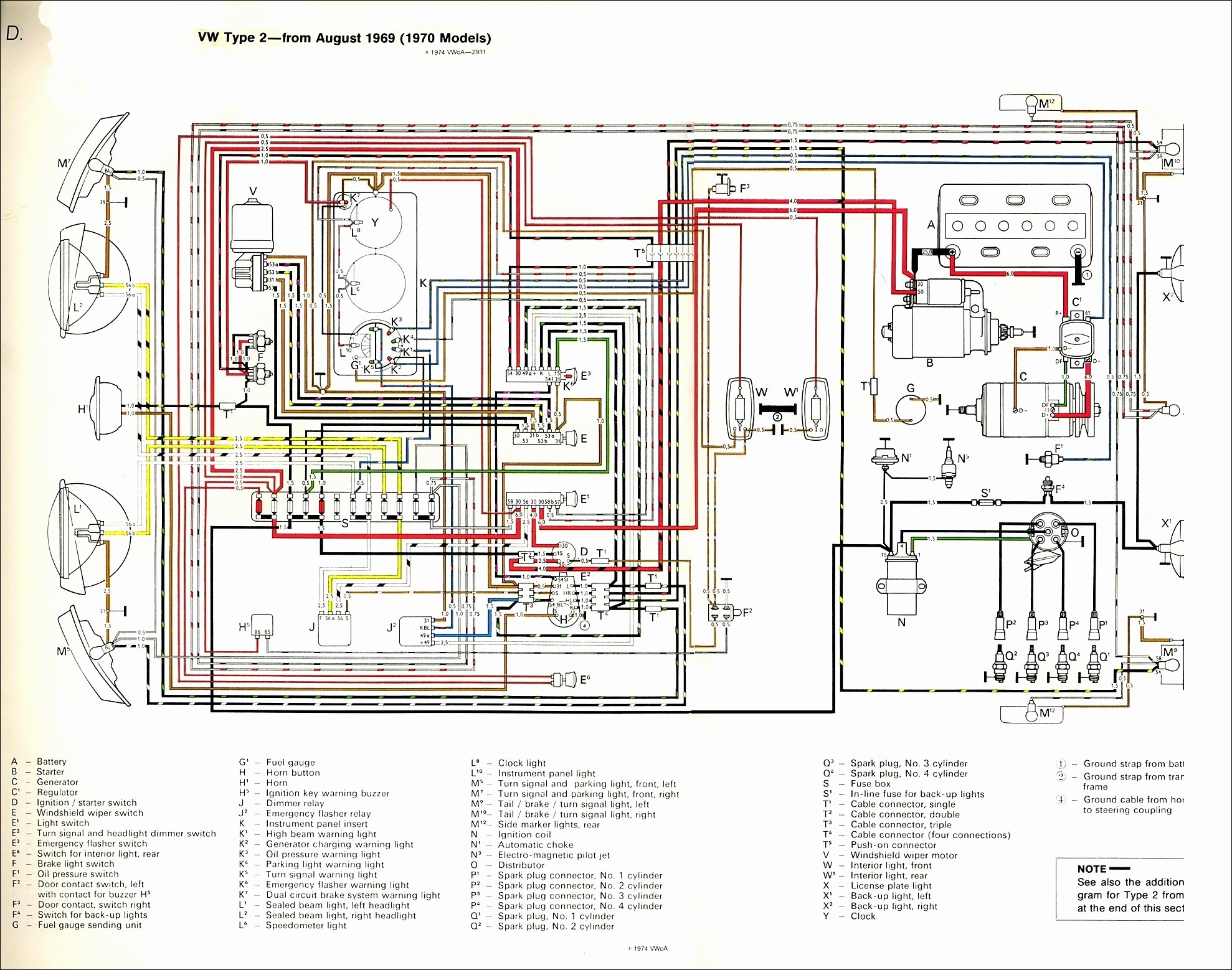 Chevy Turn Signal Switch Wiring Diagram Best thesamba Type 2 Wiring Diagrams Chevy Turn