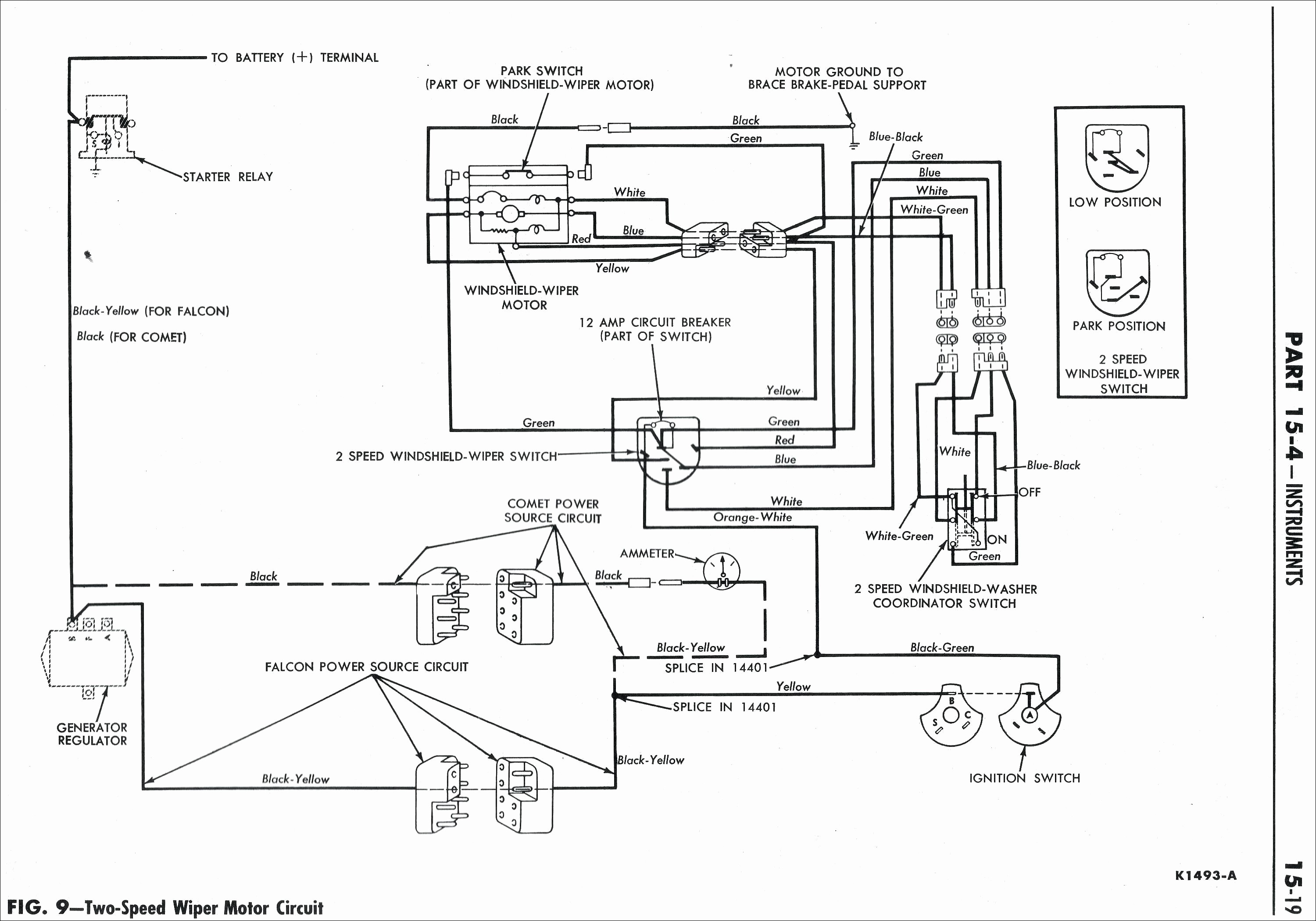 Wiring Diagram For Windshield Wiper Motor New Ford Taurus Windshield Wiper Motor Diagram Circuit Wiring