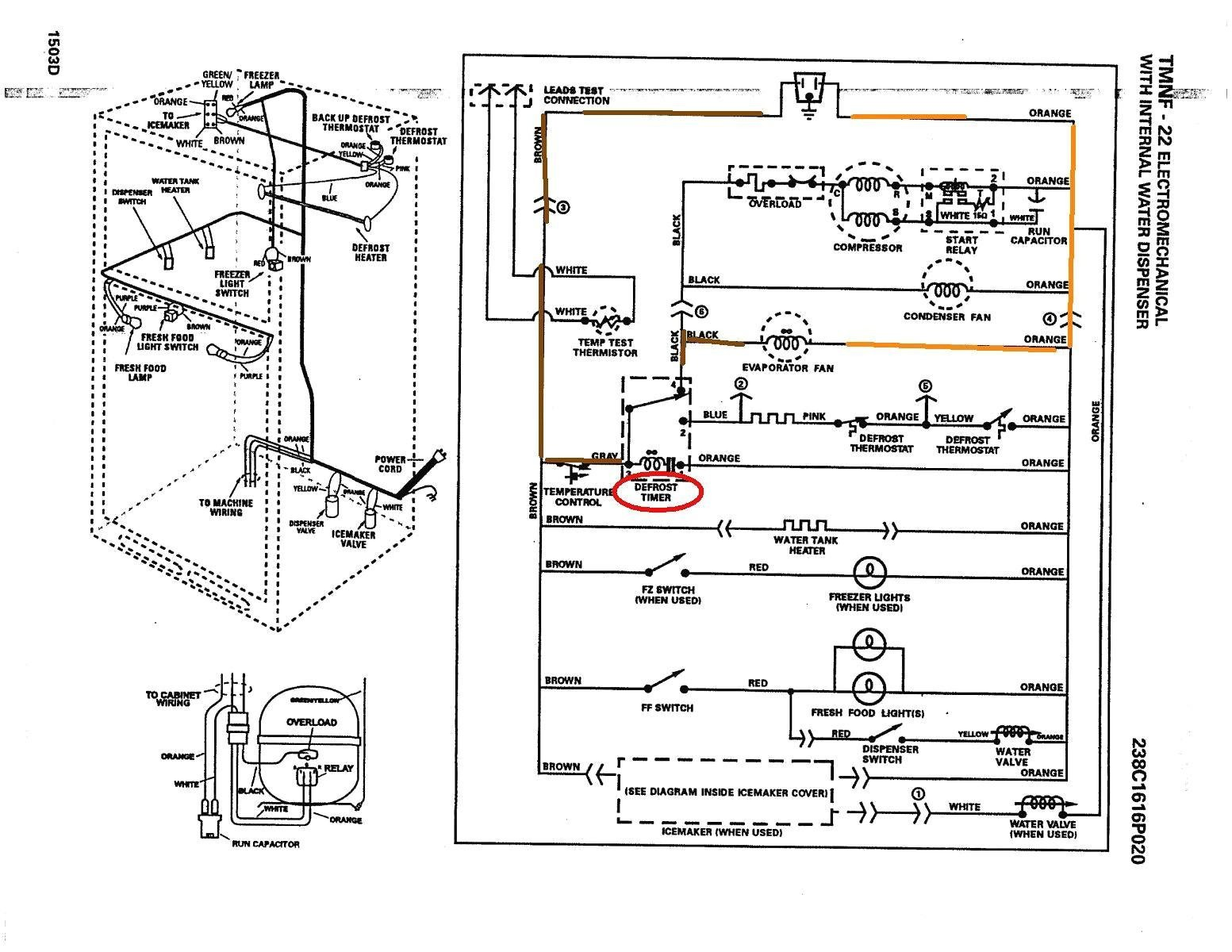 wiring diagram for ge refrigerator