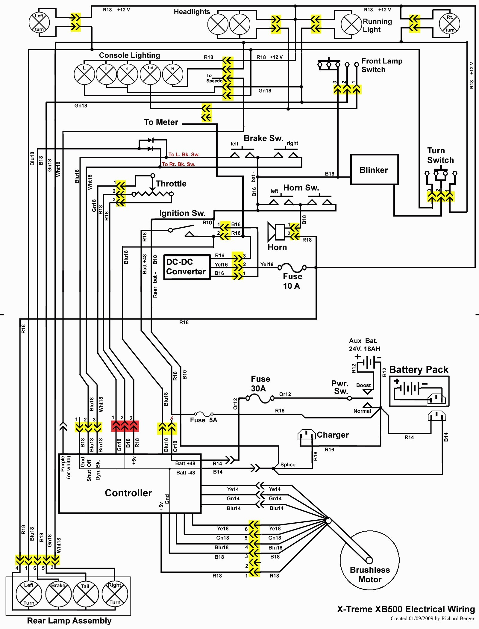 wiring diagram for razor e100 electric scooter