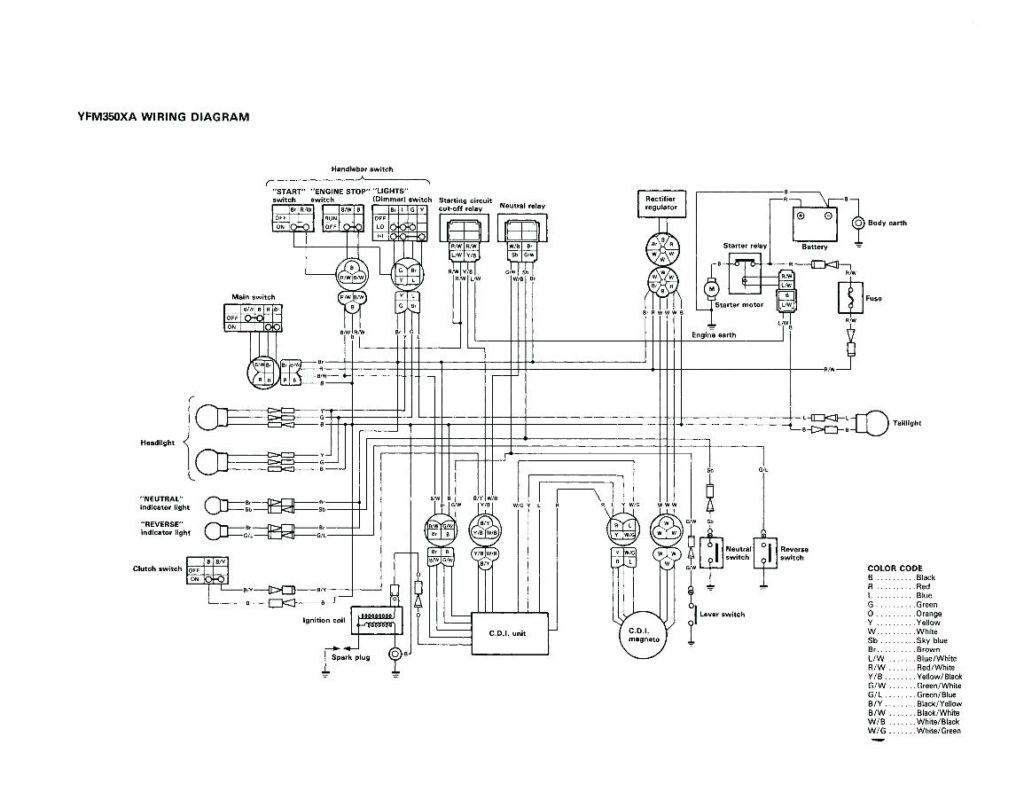 1988 Yamaha Moto 4 Wiring Diagram: 1988 Yamaha Warrior Wiring Diagram At Galaxydownloads.co