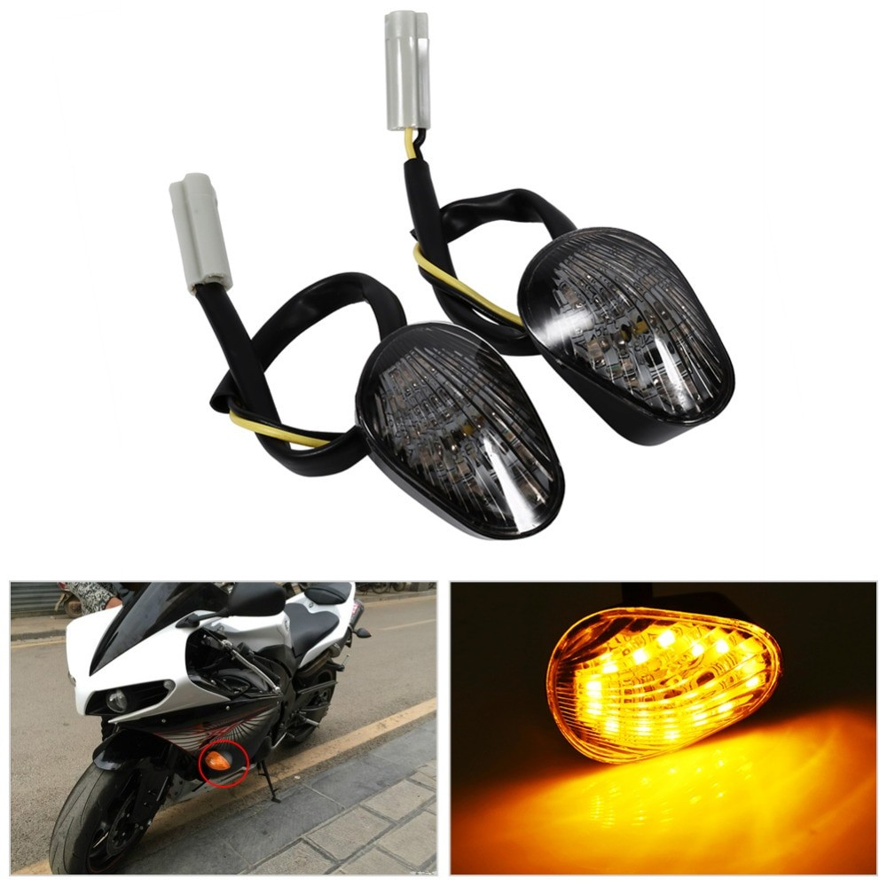 Yamaha R1 Integrated Tail Light Awesome Wiring Diagram Image R6 Turn Signal 1 Pair Amber Led Indicator Lamp Flush Mount For Yzf