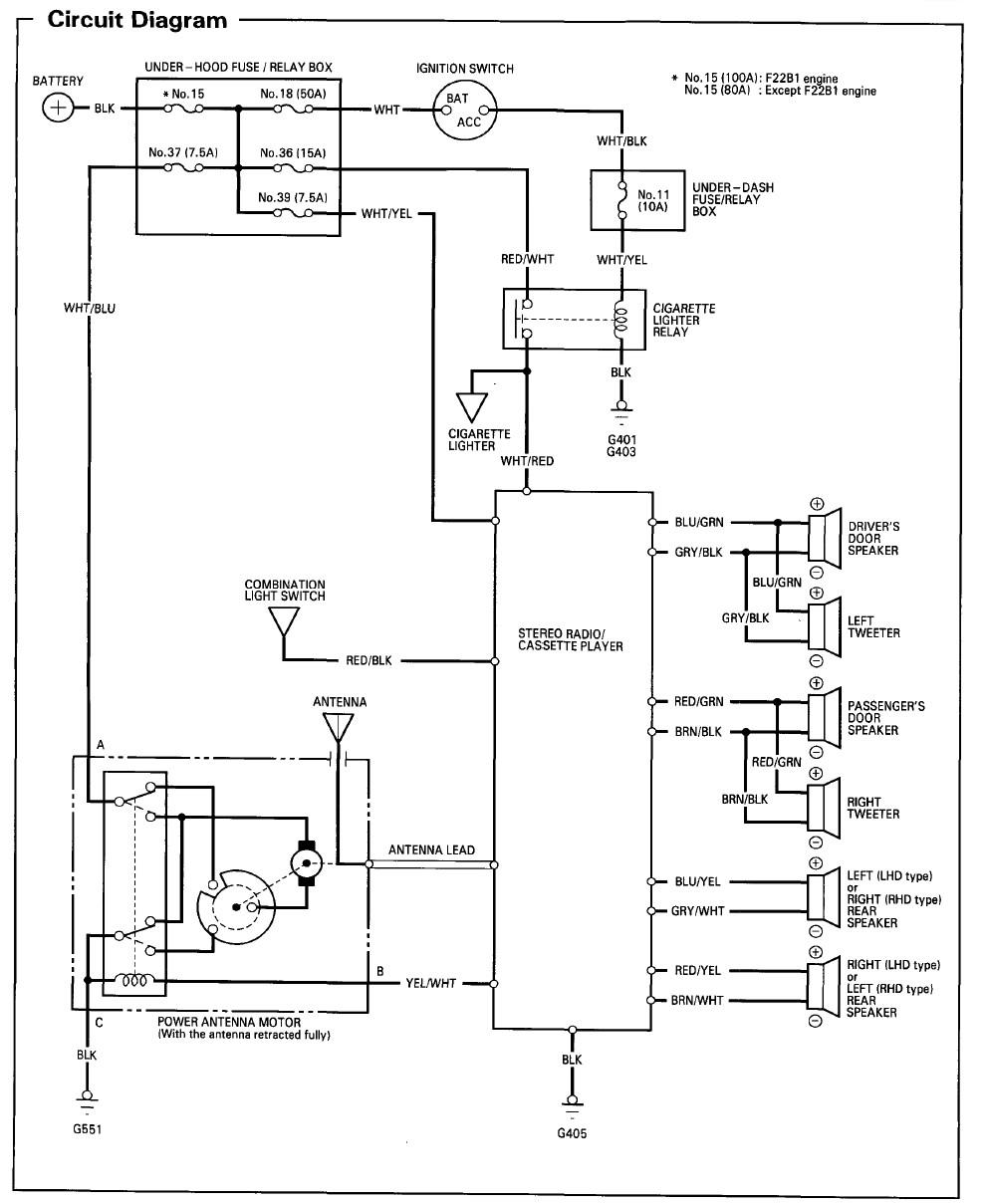 1997 Honda Accord Stereo Wiring Wiring Diagram Data 99 Accord Wire Diagram 02 Honda Accord Wiring