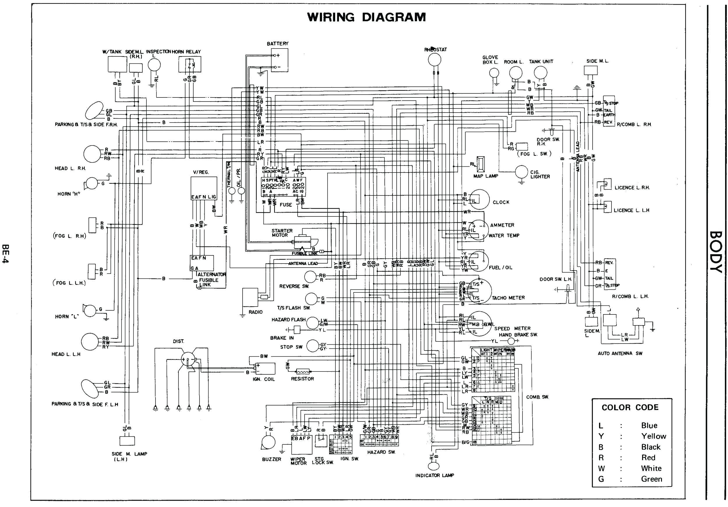 Datsun 240z Wiring Diagram Data Wiring Diagram bination Switch Wiring Diagram 73 240Z 1971 240z Wiring