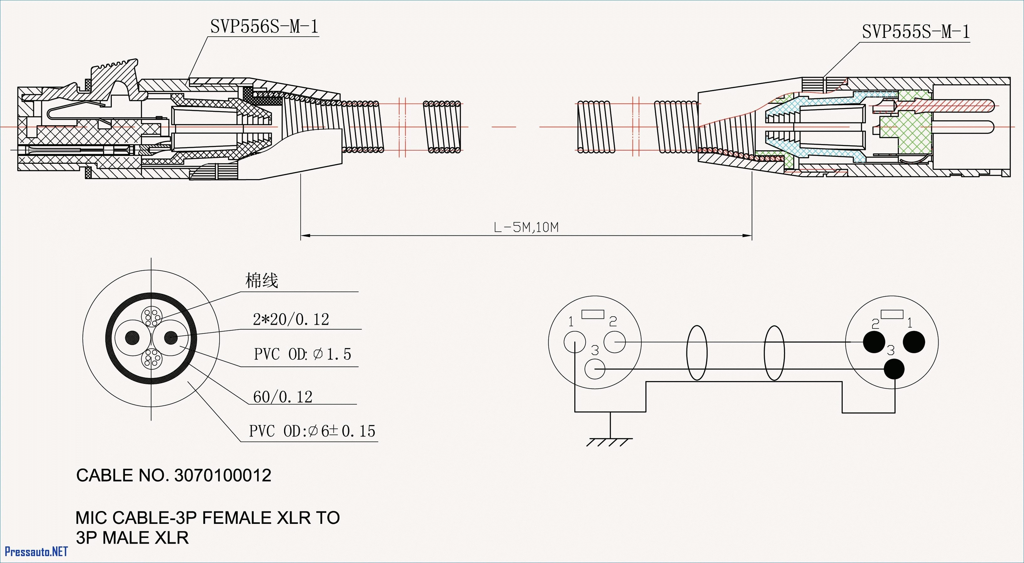 3 Prong Outlet Wiring Diagram Awesome 3 Wire Microphone Wiring