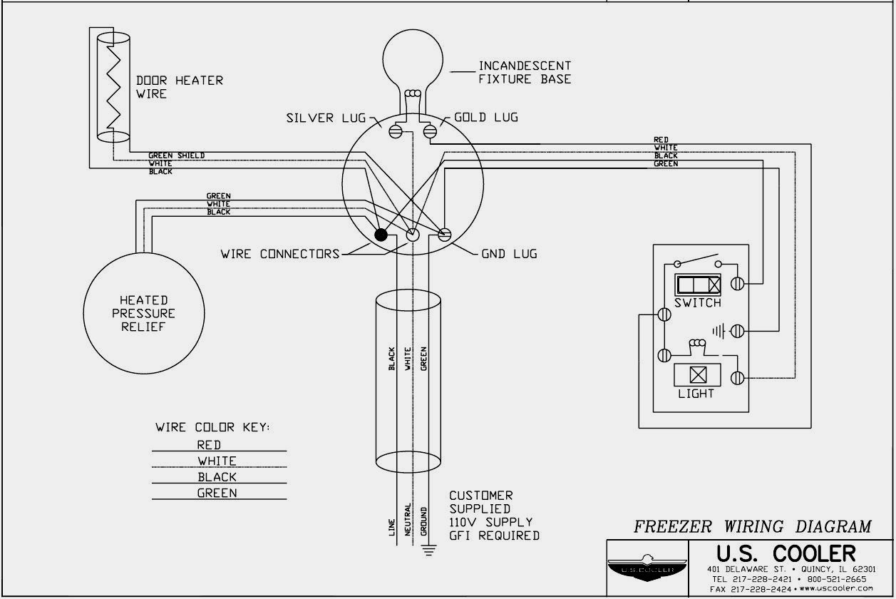 unique walk in freezer defrost timer wiring diagram