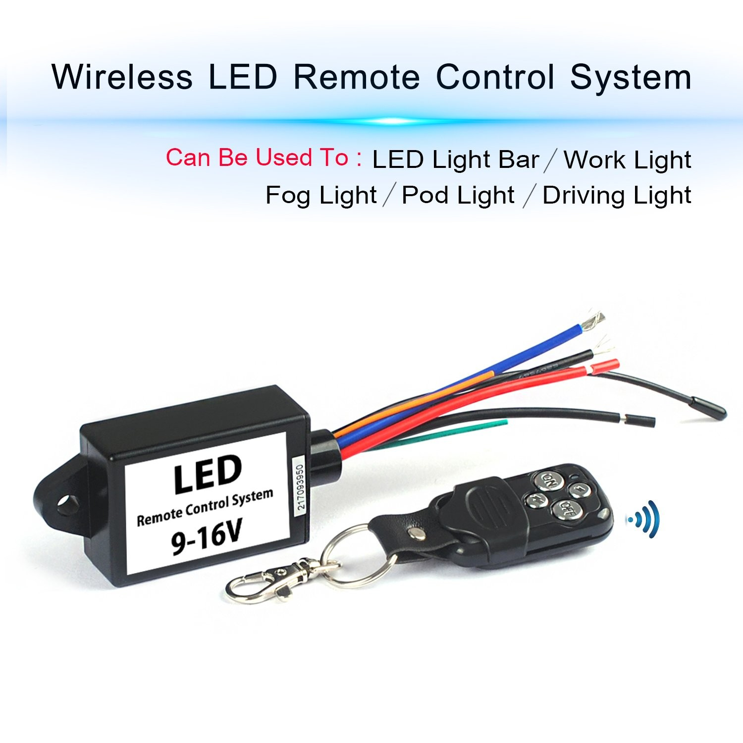 LED Light Bar Remote Wiring Harness Wireless Remote Wiring Harness for LED Light Bar Driving Light Fog Light Pods Light Work Light Supported Current is 30A