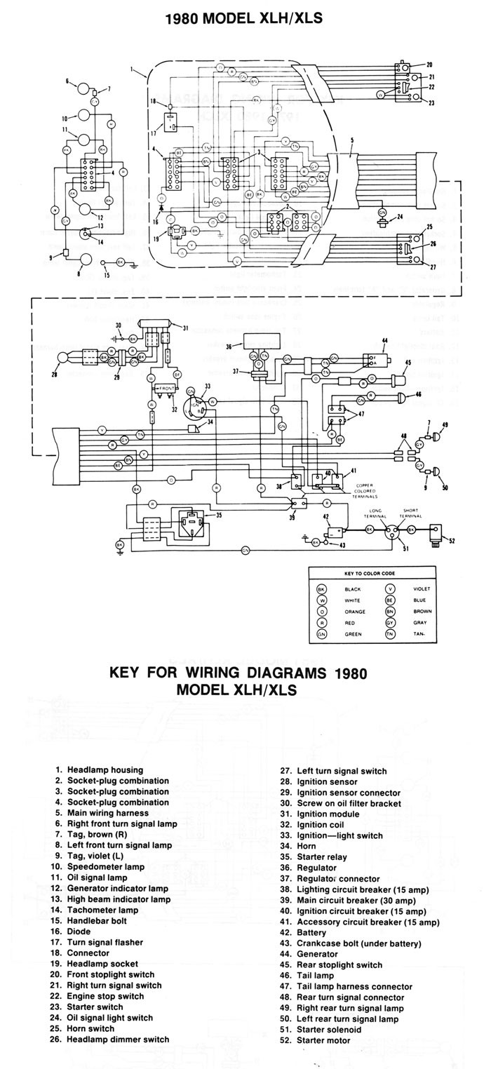 harley diagrams and manualswiring diagram xlh xls 1980