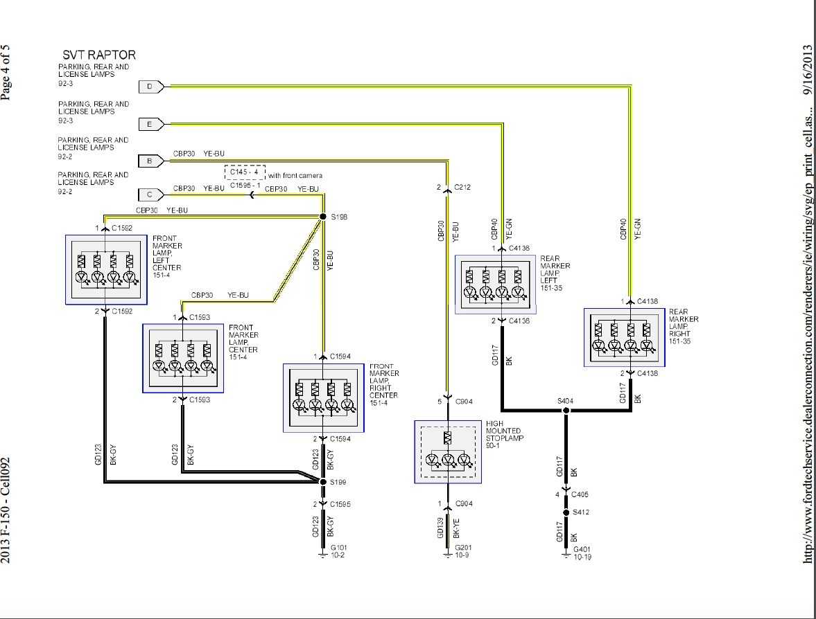 picture ford f250 wiring diagram for trailer light 2013 f150 front rear exterior lights wiring harness diagram ford rh f150forum 2006 ford f150 tail light wiring harness ford super duty tail lig