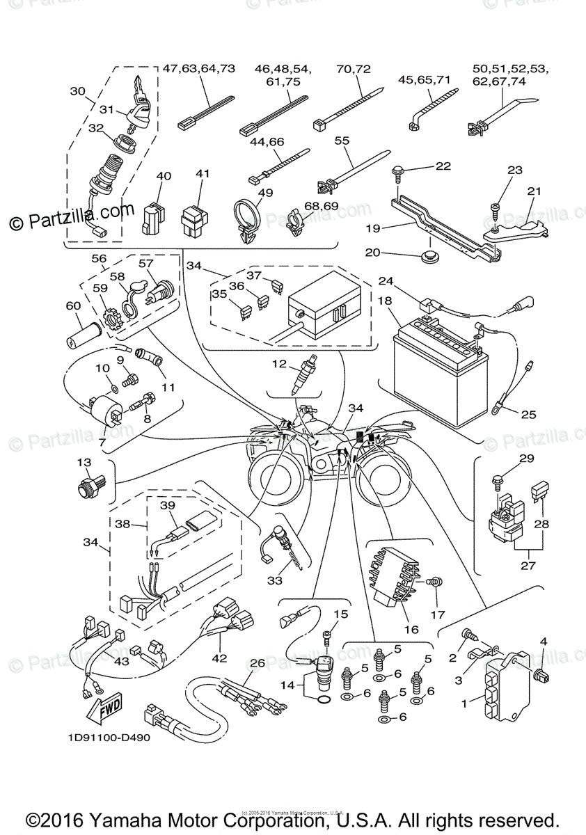 Yamaha Kodiak 450 Parts Diagram