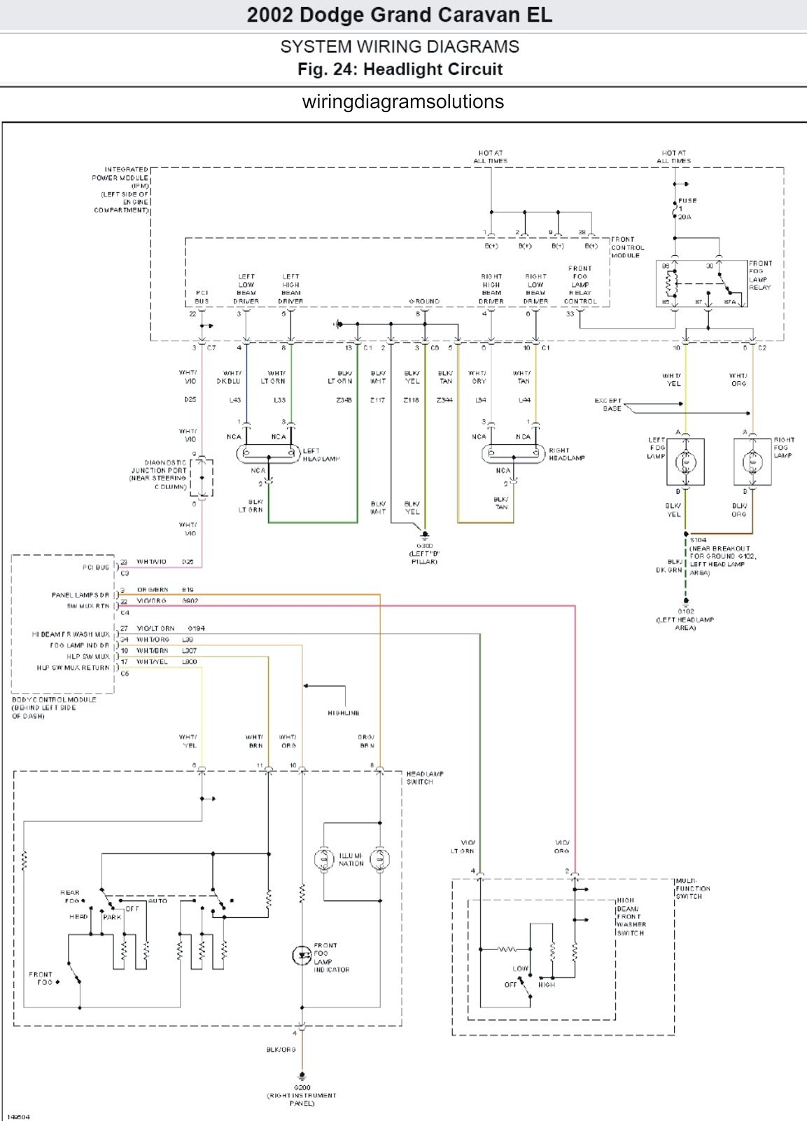 Dodge Caravan Wiring Wiring Diagram Toolbox 02 Dodge Caravan Ac Wiring Diagram