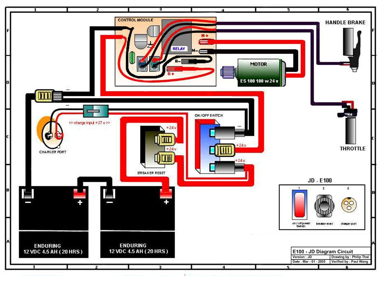 Sample Image Wiring Diagram For Electric Scooter Razor E100 And E125 Wiring Diagram Version Jd wiring