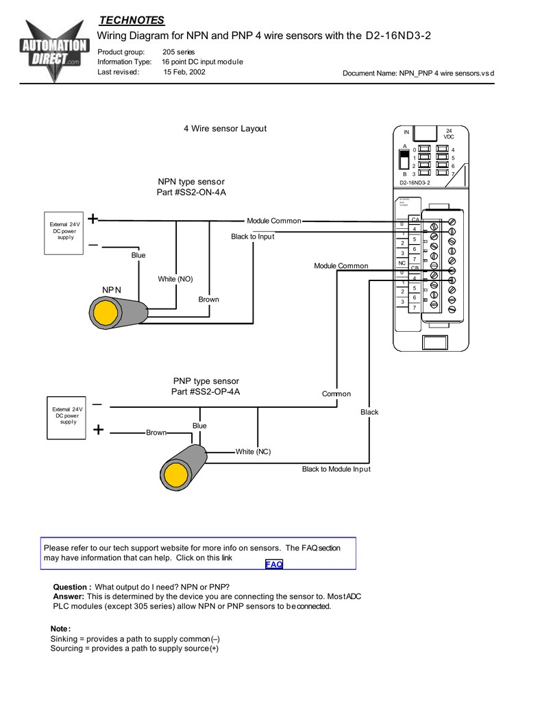 4 wire proximity switch diagram data diagram schematicwiring diagram for npn and pnp 4 wire sensors