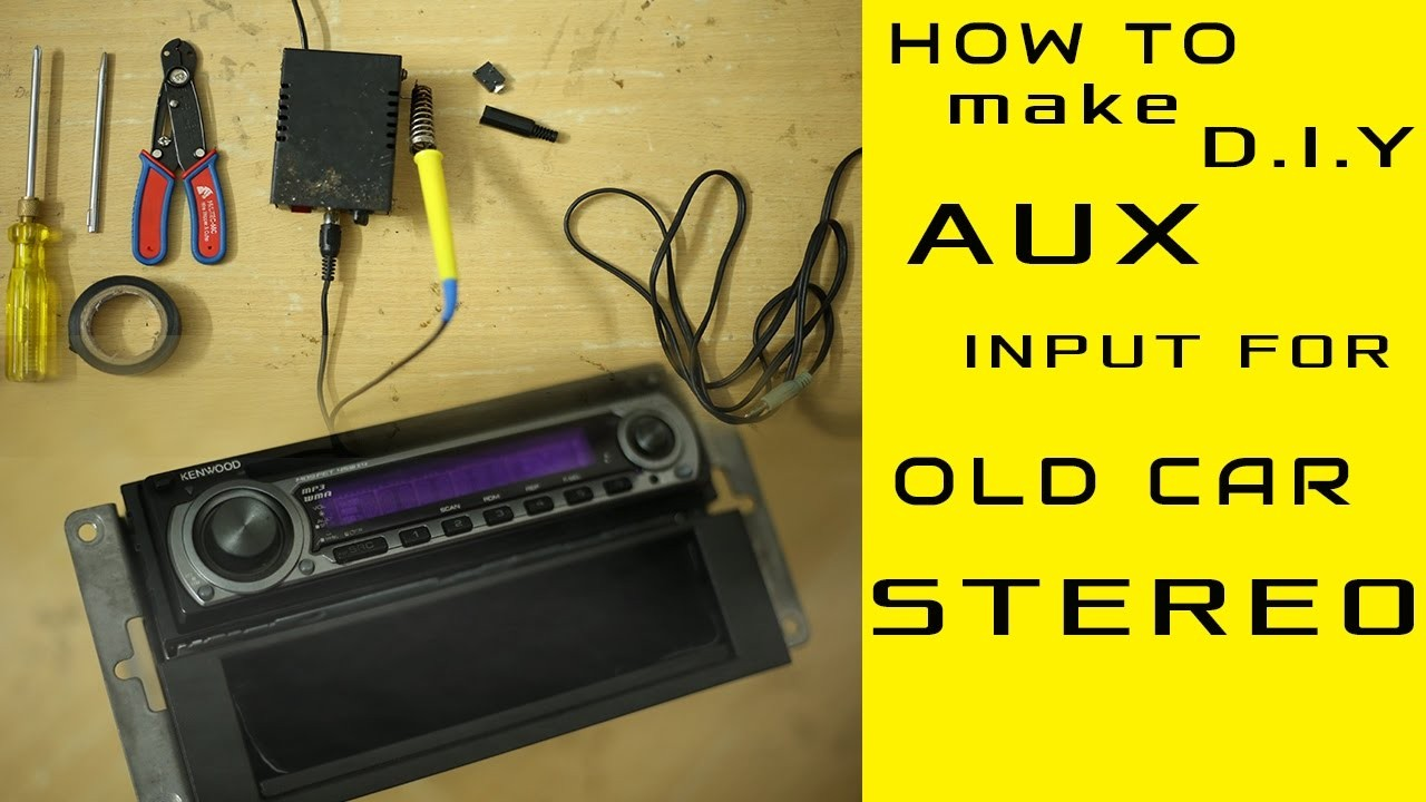 AUX input Installation for any old model car stereo even without CD exchangerport [D IY]