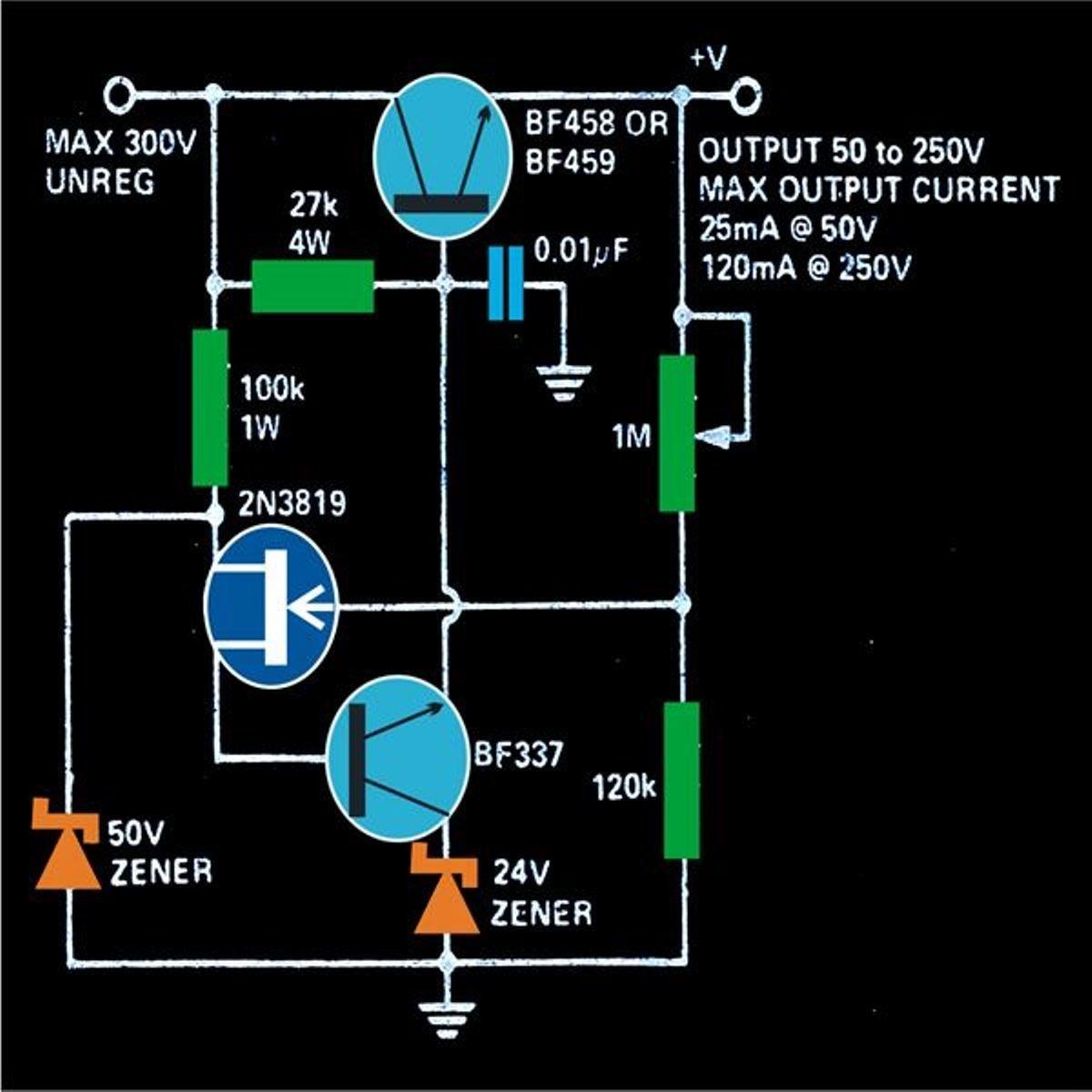0 300V Adjustable Transformerless Power Supply
