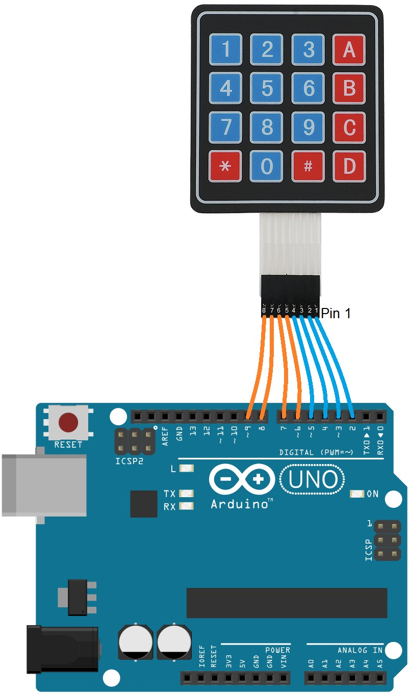 Learn to interface 4x4 Keypad matrix to arduino with keypad code and keypad arduino connection It is used in security lock door lock with keypad and in
