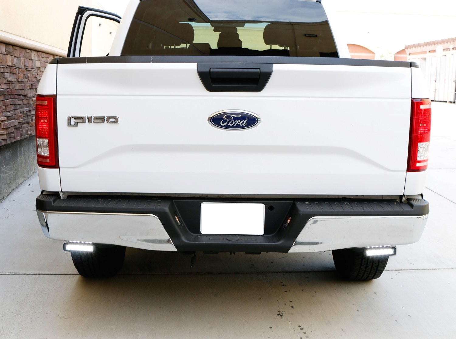 Amazon iJDMTOY Under Bumper LED Reverse Light Bar Kit For 2015 up Ford F150 & 17 up Raptor Includes 2 9W High Power LED Light Bars & Under Bumper