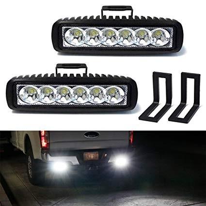 iJDMTOY Under Bumper LED Reverse Light Bar Kit For 2015 up Ford F150 & 17