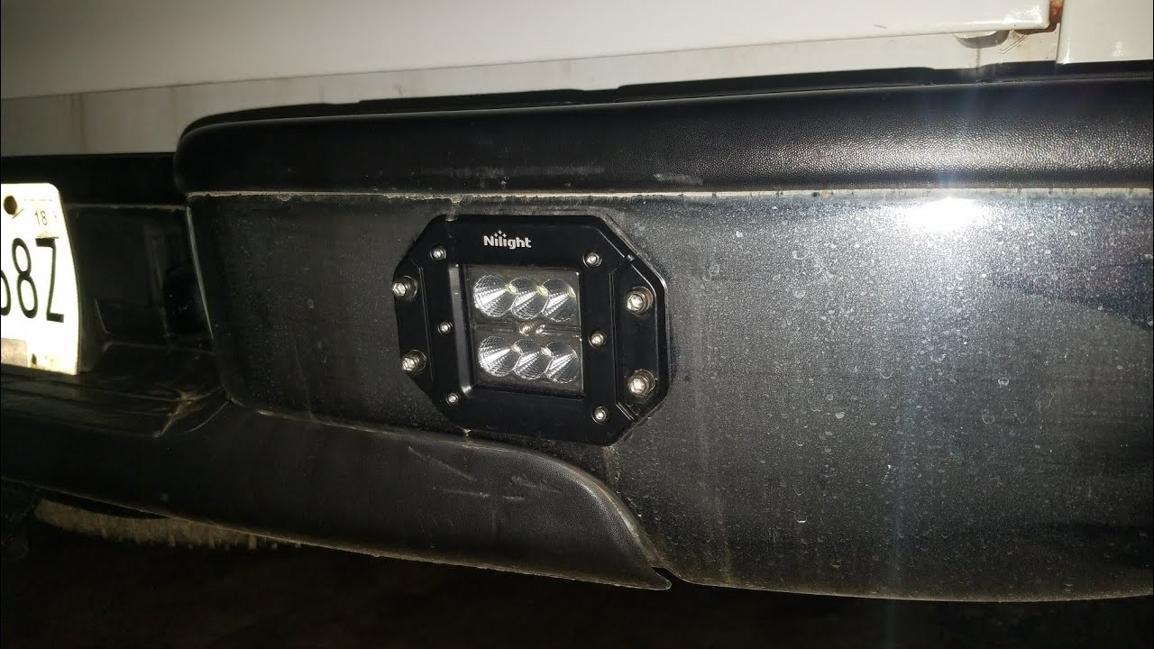 How to instlall flush mount led reverse lights in your bumper