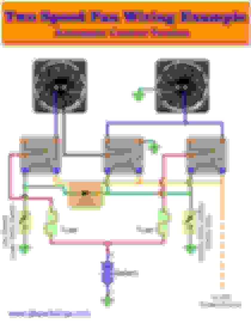 That said here s the schematic I drew up for how I wired up the fans in the LS3 and LFX I know ya ll probably aren t EE s but this is the best