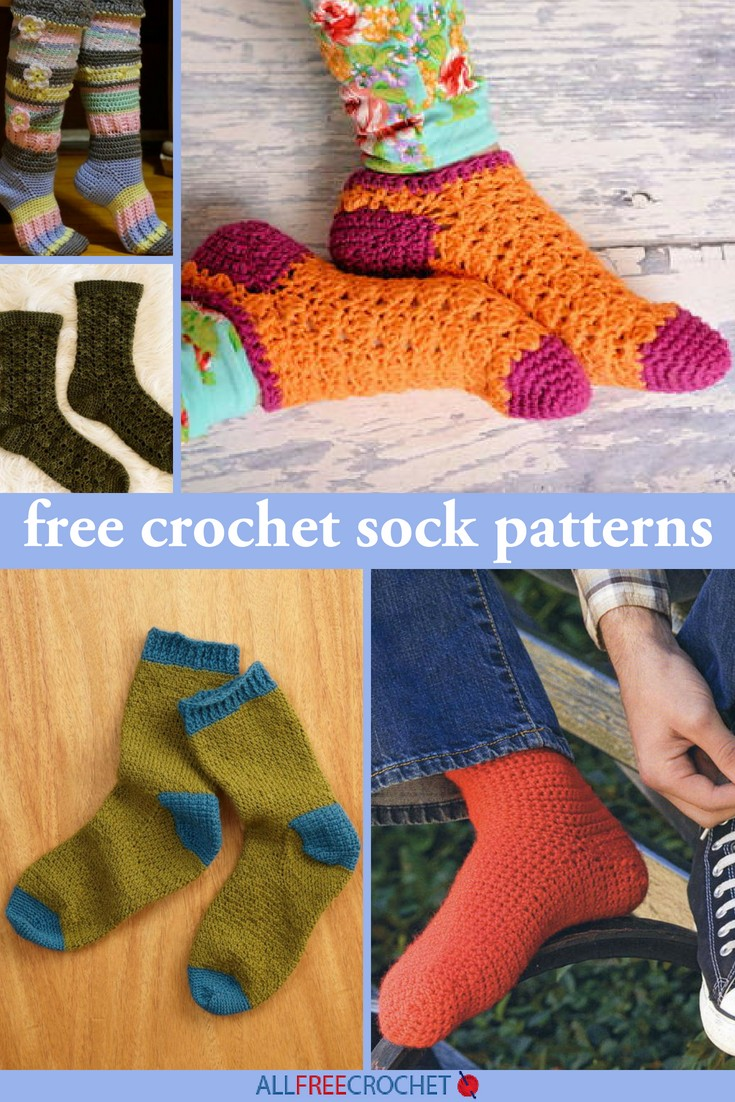 Free Crochet Sock Patterns pin Extra 800 ID