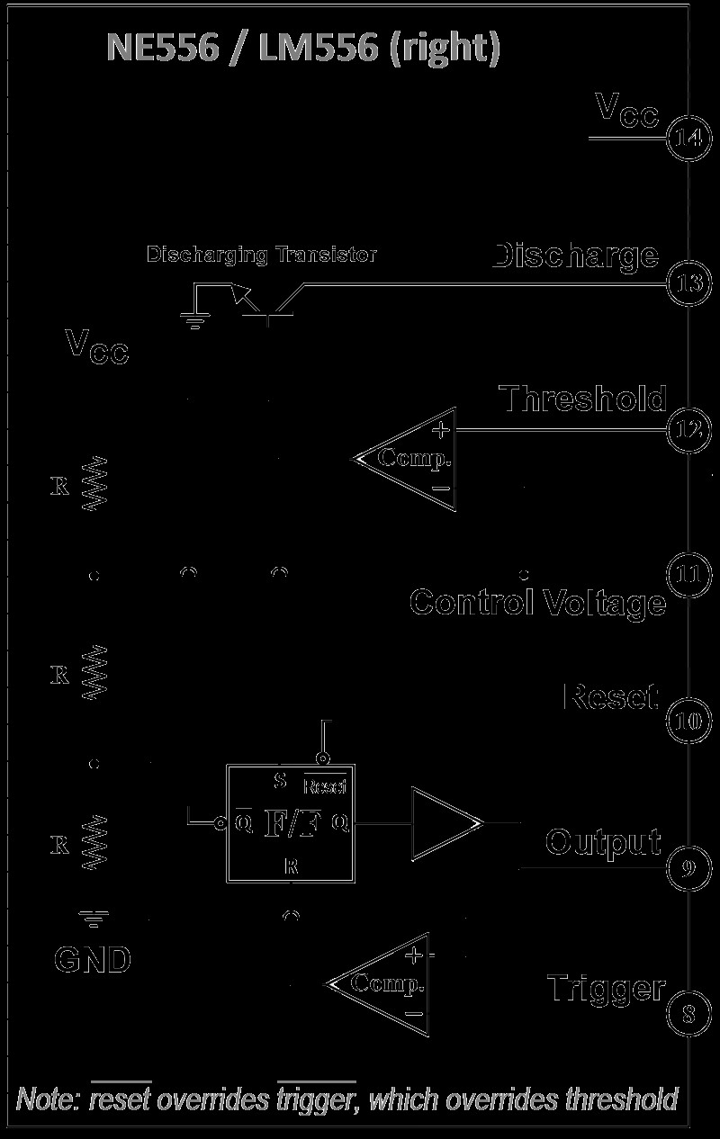Functional diagram of 556 dual time wtih pintout right half
