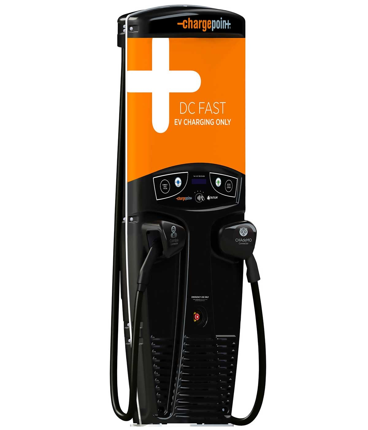 ChargePoint Express 200 CPE200 electric car charging station EVSE right side view