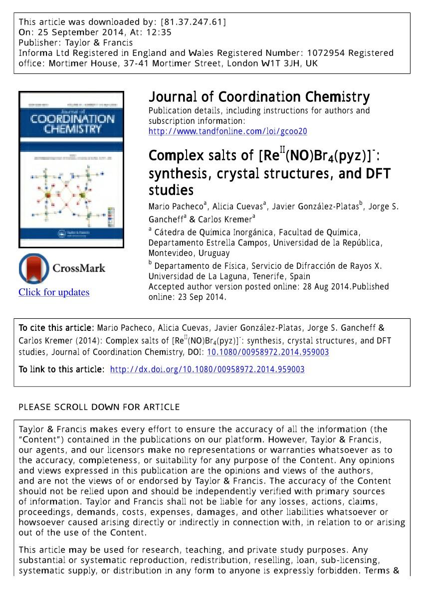 Structural and spectroscopic properties of rhenium nitrosyl plexes