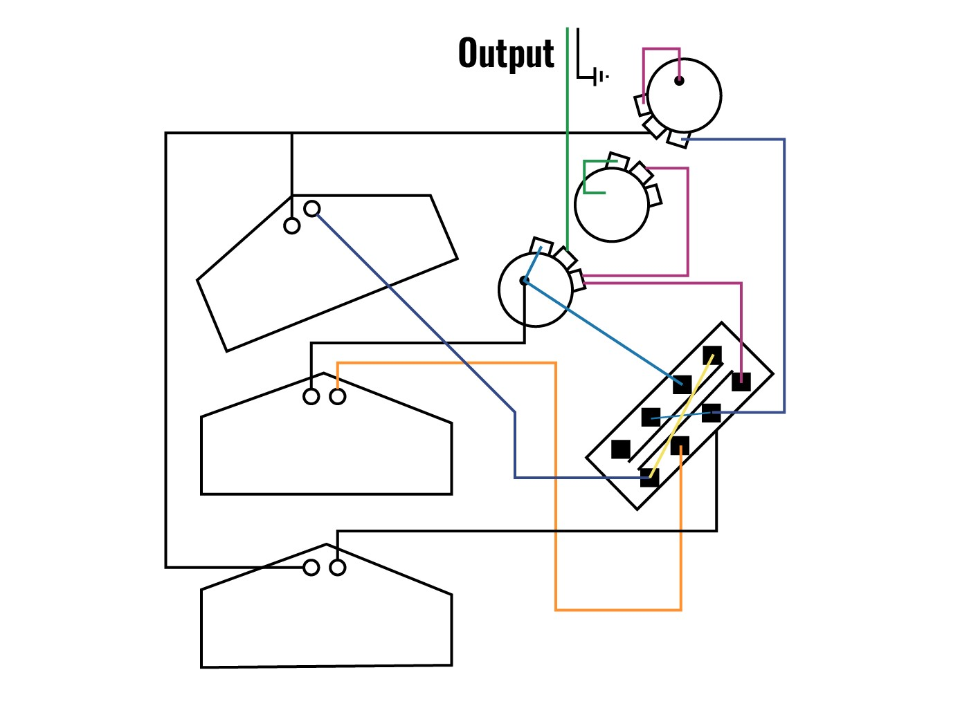 Try Dan Armstrong s wiring