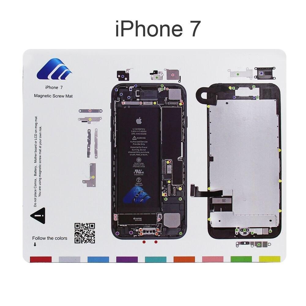 Magnetic Project Mat for iPhone 7 7plus 6 6s Plus 5s 5c 5 4s 4 Screw Mat Repair Guide Pad Screw Keeper Chart Map Professional Guide Pad Repair